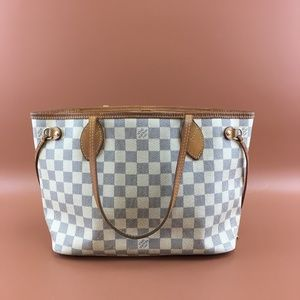 Preowned Louis Vuitton Neverfull PM Damier Azur